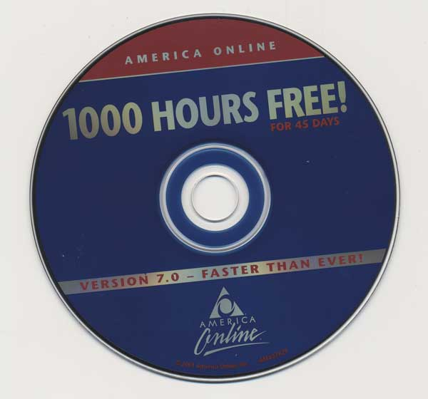 1000 hours of America Online for free, from archive.org.